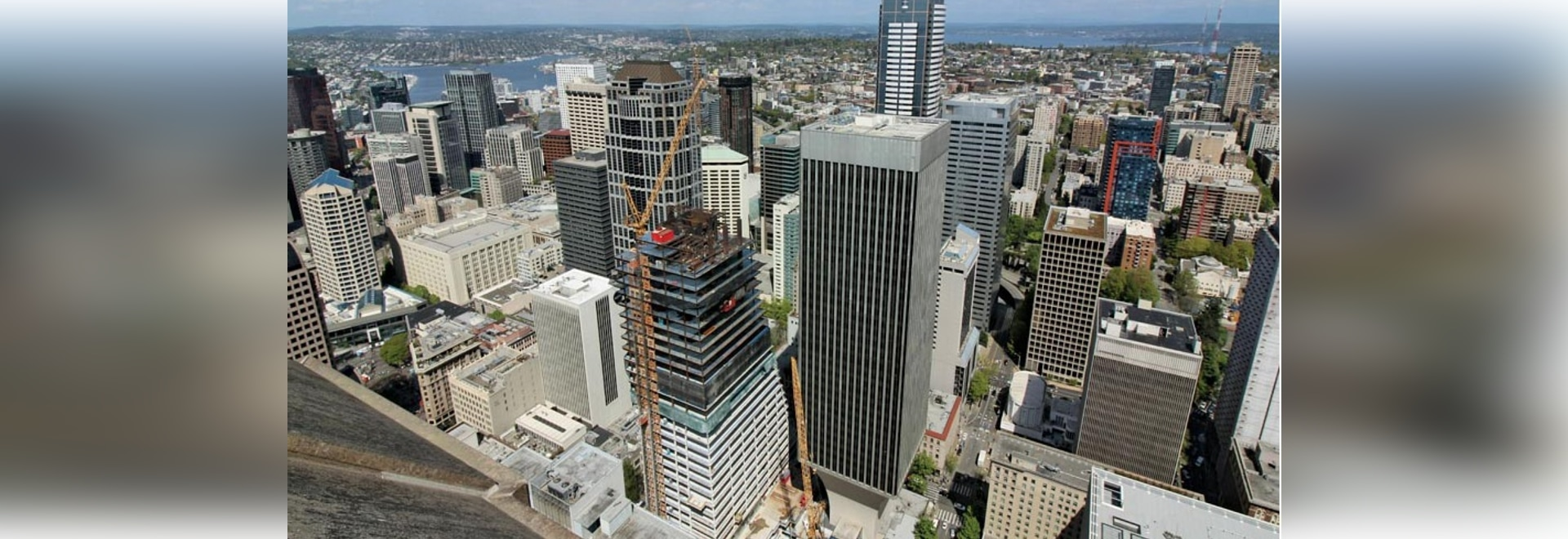 Rainier Square Tower, under construction in Seattle, is one of the buildings considered for the development of a performance-based wind design manual for tall buildings.