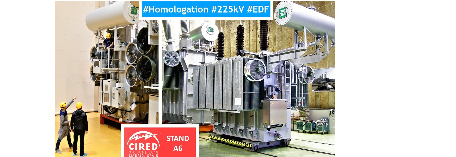 SANERGRID and KOLEKTOR ETRA have obtained the EDF approval for their 225 KV oil power transformers.