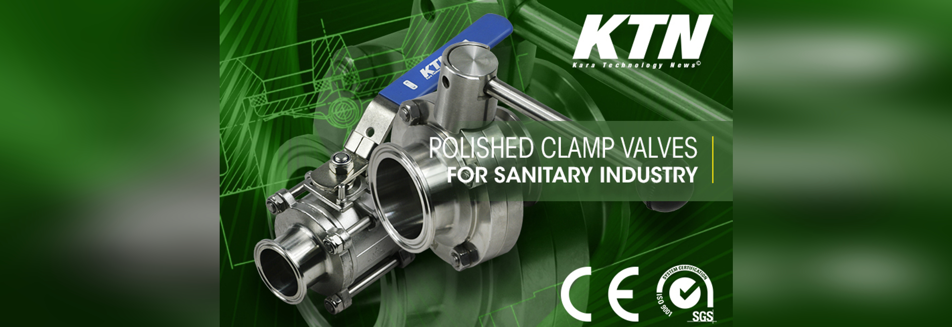 Sanitary stainless steel polished sanitary valves with clamp ends