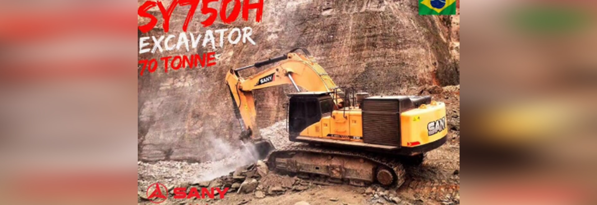 SANY large excavators are the best choice for the mining market in Brazil