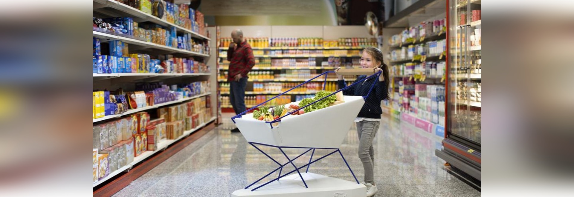 'SELF-BRAKING TROLLEY' COULD HELP TO MAKE SUPERMARKET SHOPPING A LESS STRESSFUL EXPERIENCE FOR PARENTS