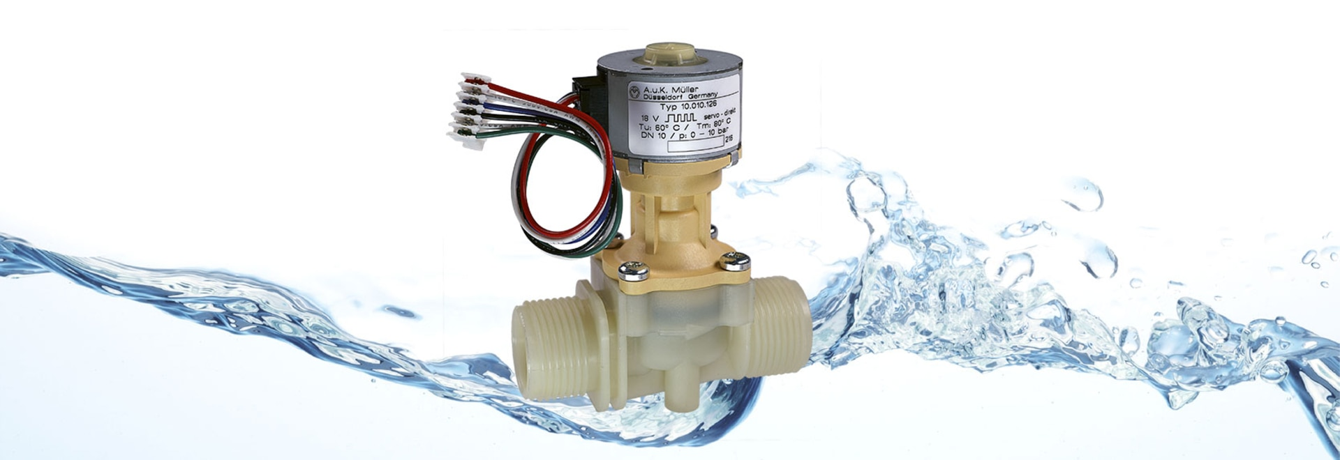 Servo-direct stepper motor controlled valve DN 10