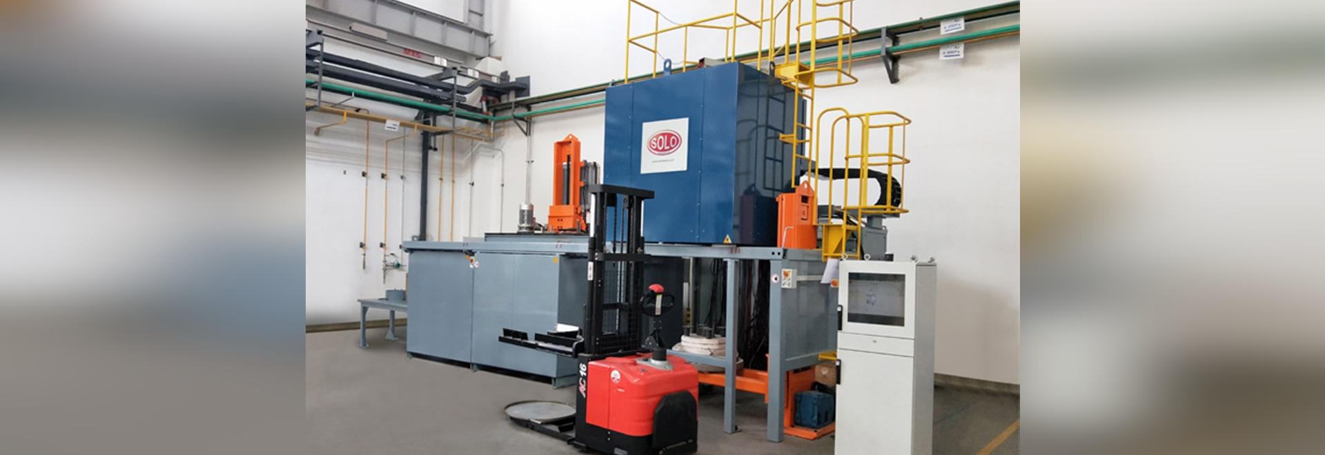 SOLO Swiss Atmosphere furnace for hardening of aero engine parts (Turbo), Russia