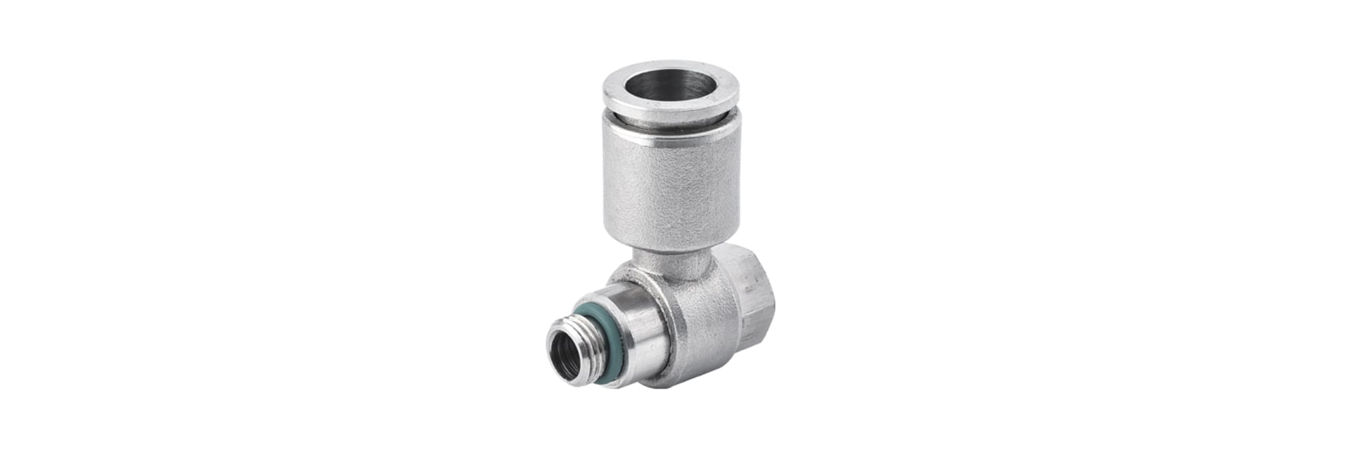 """SPH 1/4-M5, 1/4"""" O.D Tubing, M5 x 0.8 Male Banjo Elbow Connector, Stainless Steel Push to Connect Fitting"""