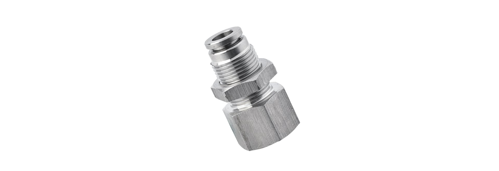 SPMF Bulkhead Female Straight Stainless Steel Push to Connect Fitting