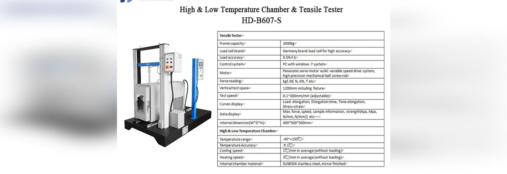 Universal Test Machine with Temperature Chamber