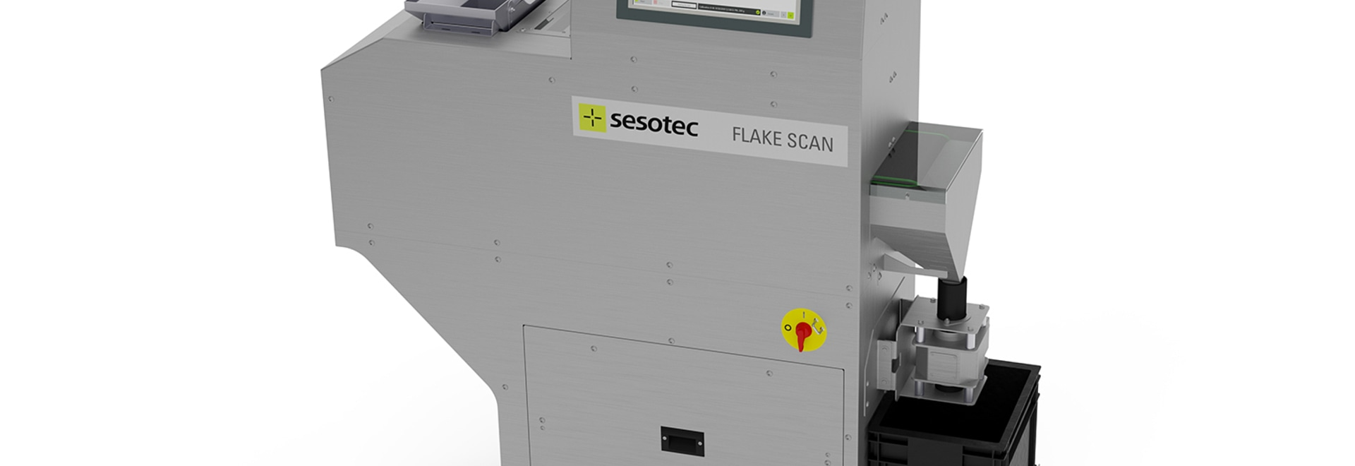 Use FLAKE SCAN by Sesotec to quickly and confidently assess the quality of plastic flakes and regrind. (Photo: Sesotec GmbH)