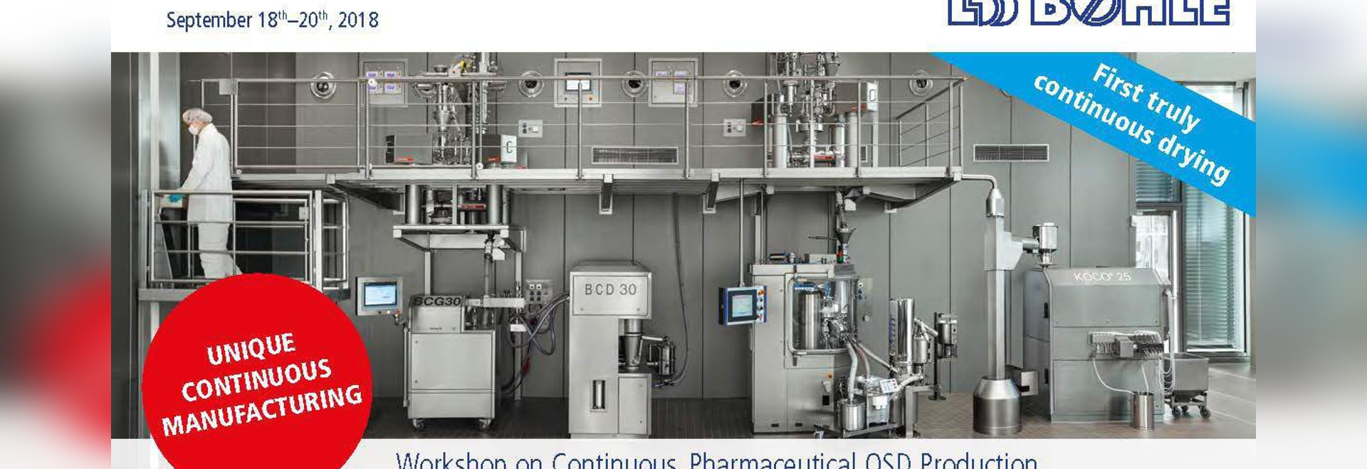 Workshop on Continuous Pharmaceutical Manufacturing
