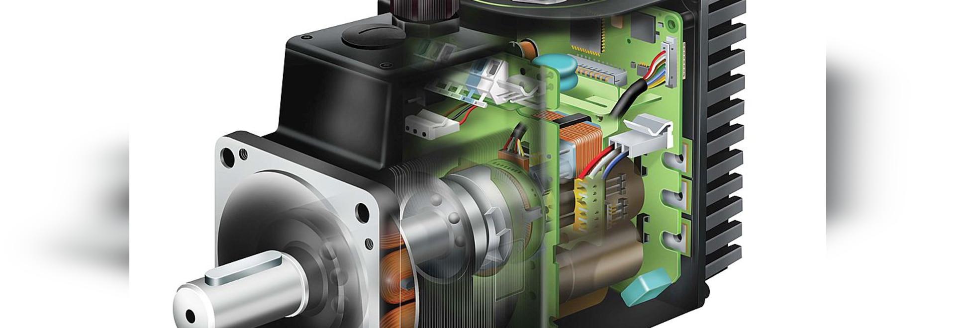 World leader in integrated servo and stepper motors.