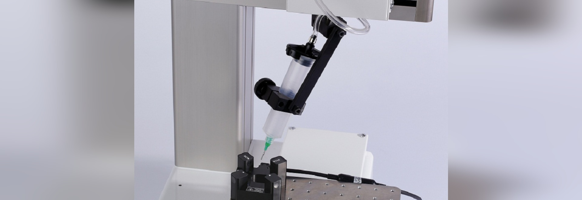 Your robot dispenses in the right direction with Janome's 4 axis needle adjuster