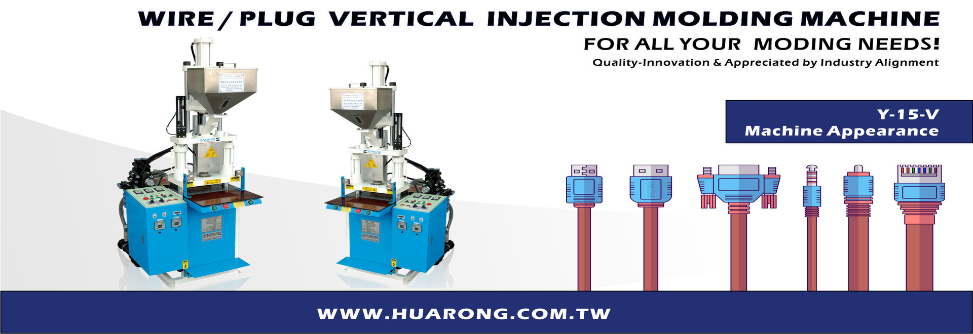 YV series-Wire / Plug Vertical Injection Molding Machine