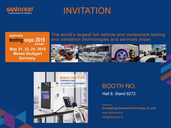 Sanwood Invitation of Automotive Testing Expo 2019