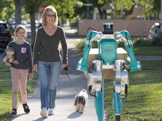 Digit is a two-legged robot designed and built by Agility Robotics to not only approximate the look of a human, but to walk like one, too.