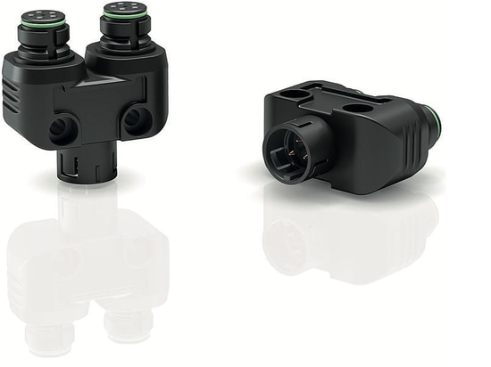 Binder USA announces snap-in IP67 twin distributor for 720 Series of miniature circular connectors