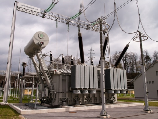 Example of a KOLEKTOR ETRA power transformer for a SANERGRID hydroelectric power plant