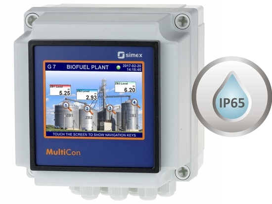 Multichannel controller MultiCon built into wall-mounted enclosure