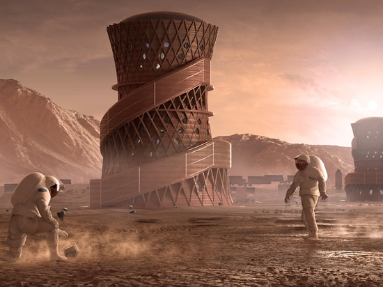 Nasa's 3D-Printed Habitat Challenge has seen teams compete to design sustainable shelters for the Moon and Mars that can be 3D printed using local raw materials. (Image: Team SEArch+/Apis Cor)