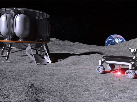 Laser to melt moon dust for additive manufacturing in space