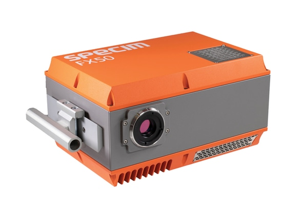 Figure 3: Based on a cooled InSb detector, the FX50 hyperspectral imaging camera can be deployed in black plastic sorting and in detecting contamination on metal surfaces.