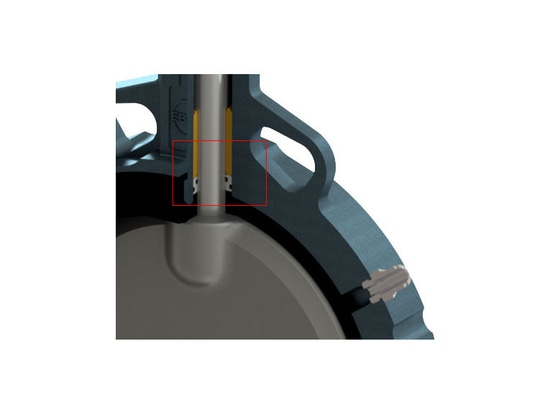 The cascade sealing of the EBRO butterfly valve offers additional safety.