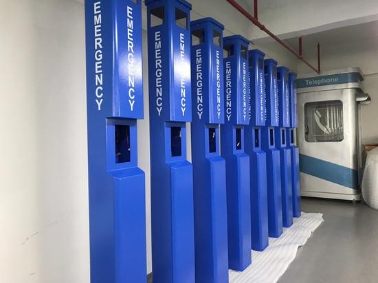 Customized Blue Emergency Telephone tower