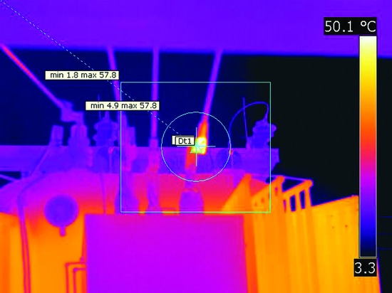 FLIR thermal image: load tap changers