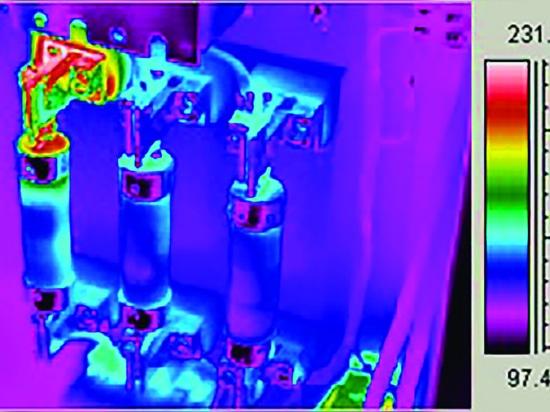 FLIR thermal image: distribution fuses