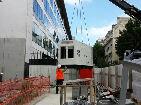 French embassy supplied by a diesel generator