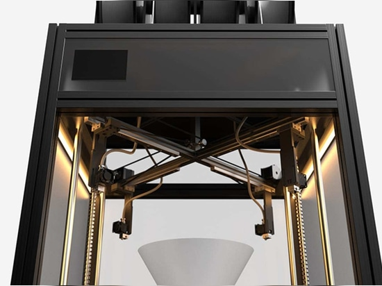 The Dancer FDM 3D printer will feature four printheads on four gantries