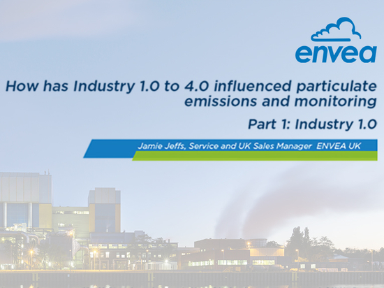 How has Industry 1.0 to 4.0 influenced particulate emissions and monitoring