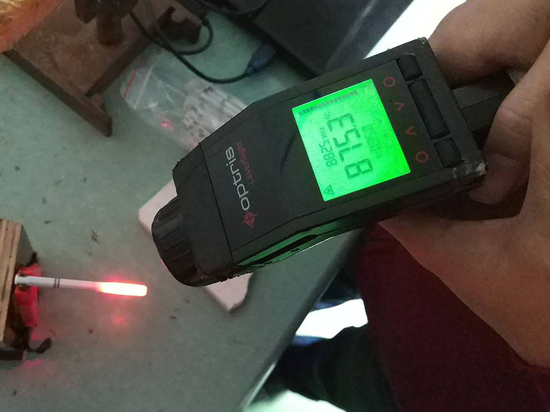 Real-time data measured by infrared thermometer