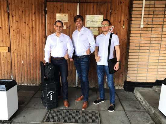 Stanislav Biryukov, Andrey Kireev and Markus Schalk on tour around Moscow