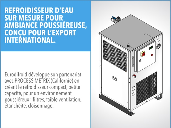 New water chiller for dust-filled atmospheres