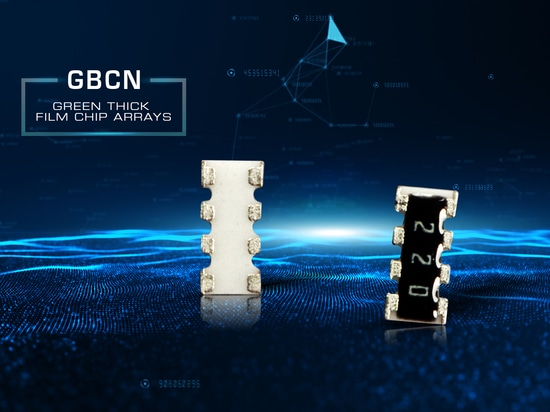 Lead-free chip resistor networks designed for RoHS compatibility