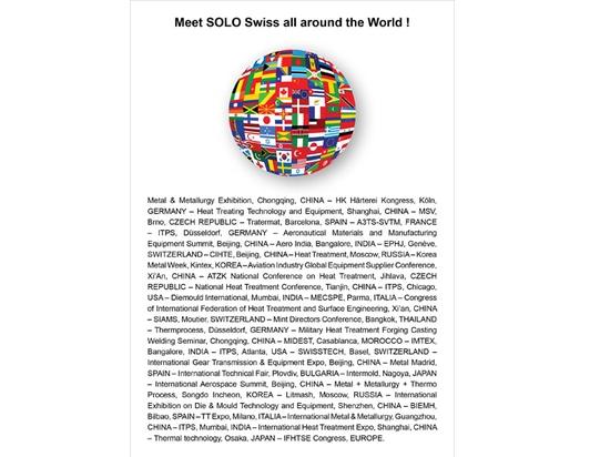 Meet SOLO Swiss all around the World !