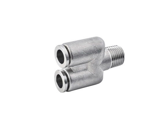 SPXN Male Y Stainless Steel Push to Connect Fitting