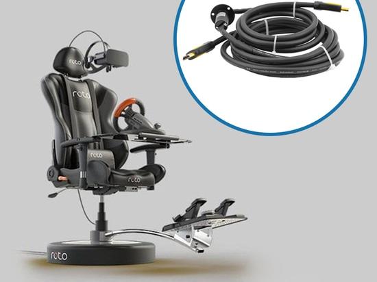 VR Game Seat Slip Ring