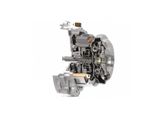 One of Schaeffler's latest E-Mobility technologies, the modular hybrid transmission enables hybridization for the SUV, truck and off-road vehicle segments, while providing more power and torque.
