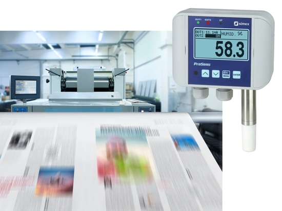 Application #10: Monitoring of temperature and humidity with ProSens in the printing house