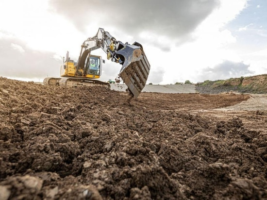 Topcon Tilt-Rotation for Automatic Excavator System