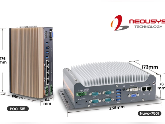Neousys ultra-compact computer POC-551VTC & Nuvo-7505D series