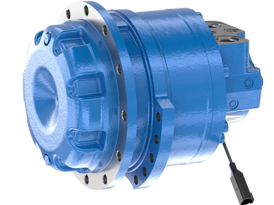 Bosch Rexroth's MCR-T adds a new size. The size 8 motor for track drives delivers up to 1,270 ccm with a maximum differential pressure of 450 bar.