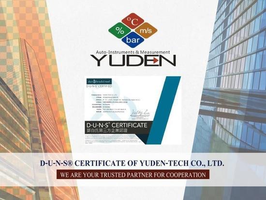 D-U-N-S® Certificate of YUDEN-TECH CO., LTD.