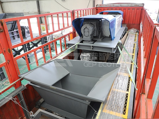 Fight COVID-19 and Guarantee Production, GEP ECOTECH Delivered Another Solid Waste Shredding Equipment