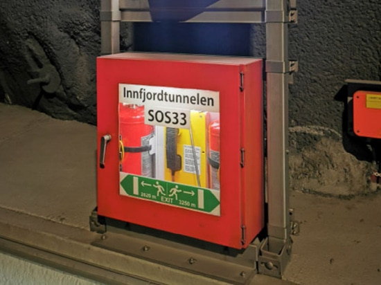 SIP Weatherproof Telephone Installed in Norway Tunnel