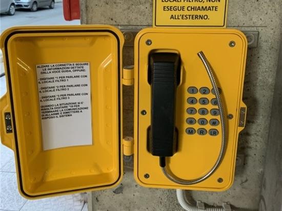 J&R Technology Rugged Outdoor Weatherproof Telephone Used in Italian Community
