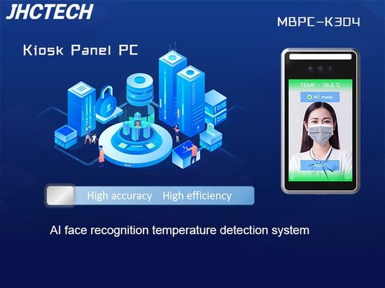 AI face recognition temperature         detection system