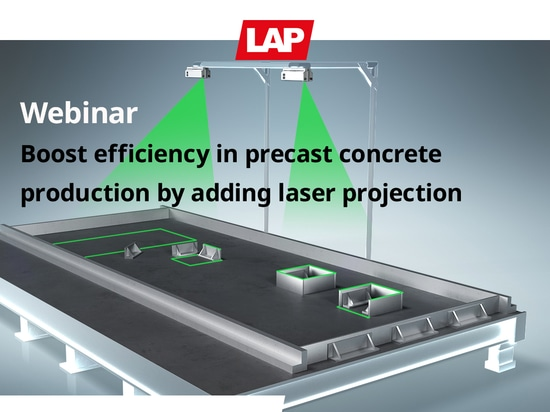 Webinar: Boost efficiency in precast concrete production by adding laser projection