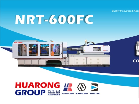 HUARONG INJECTION MOLDING MACHINE Servo System HR-600ton cosmetics packging
