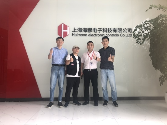 The epidemic situation gradually stabilized, many heavy industry customers visited our company one after another